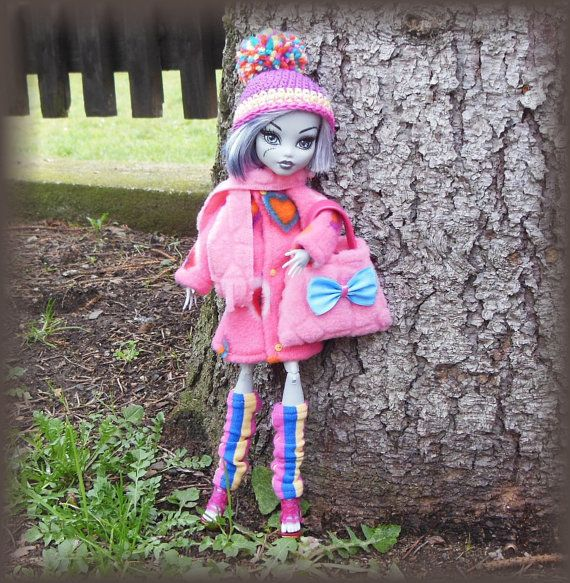 Winter set for Monster doll. MH doll outfit. by LussiFashion