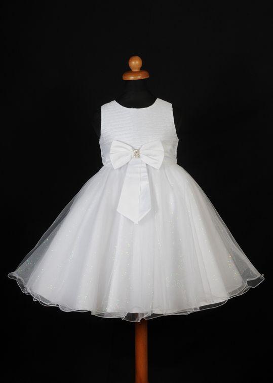 """Φορέματα για Παρανυφάκια - Επίσημα Φορέματα για Κορίτσια :: Καινούριο Σχέδιο 2015 Παιδικό Φόρεμα σε Λευκό για βάφτιση, Παρανυφάκι, Πάρτυ """"Rosemary"""" - http://www.memoirs.gr/"""