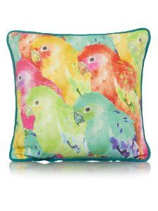 George Home Parrot Print Cushion 30x30cm | Cushions | ASDA direct