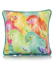 George Home Parrot Print Cushion 30x30cm | Cushions | ASDA direct