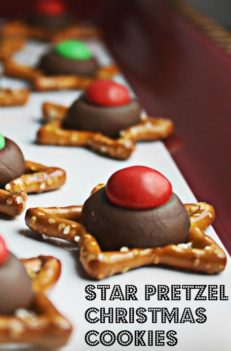 Pick up a bag of these Star-shaped pretzels and make your easiest Christmas cookies ever!