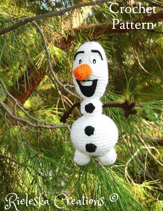 Price is for the PATTERN only, not the finished product. Crochet pattern pdf amigurumi- Olaf the snowman size : 20 cm , 8 inches *Worsted weight yarn and hook size: 3,50mm* There is no shipping charge for this item, as it is a PDF file and will be sent almost direct of payment. If you dont