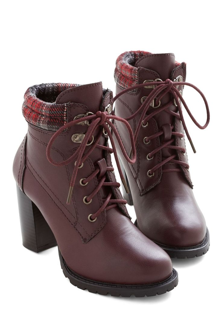 Street Style Fashion Show Bootie in Wine. The world is your runway and you rock every inch of it wearing these burgundy booties from Dolce by Mojo Moxy!  #modcloth