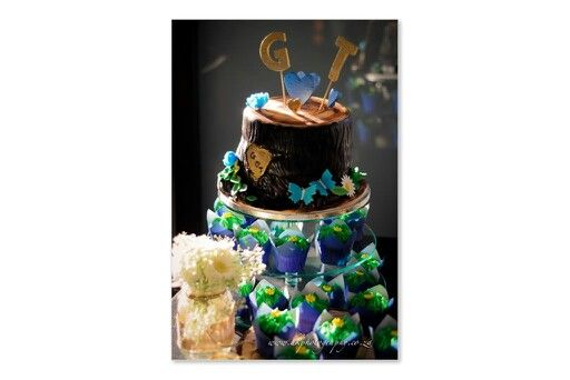 Blue velvet wedding cake. (P.S makes your poop green) LoL