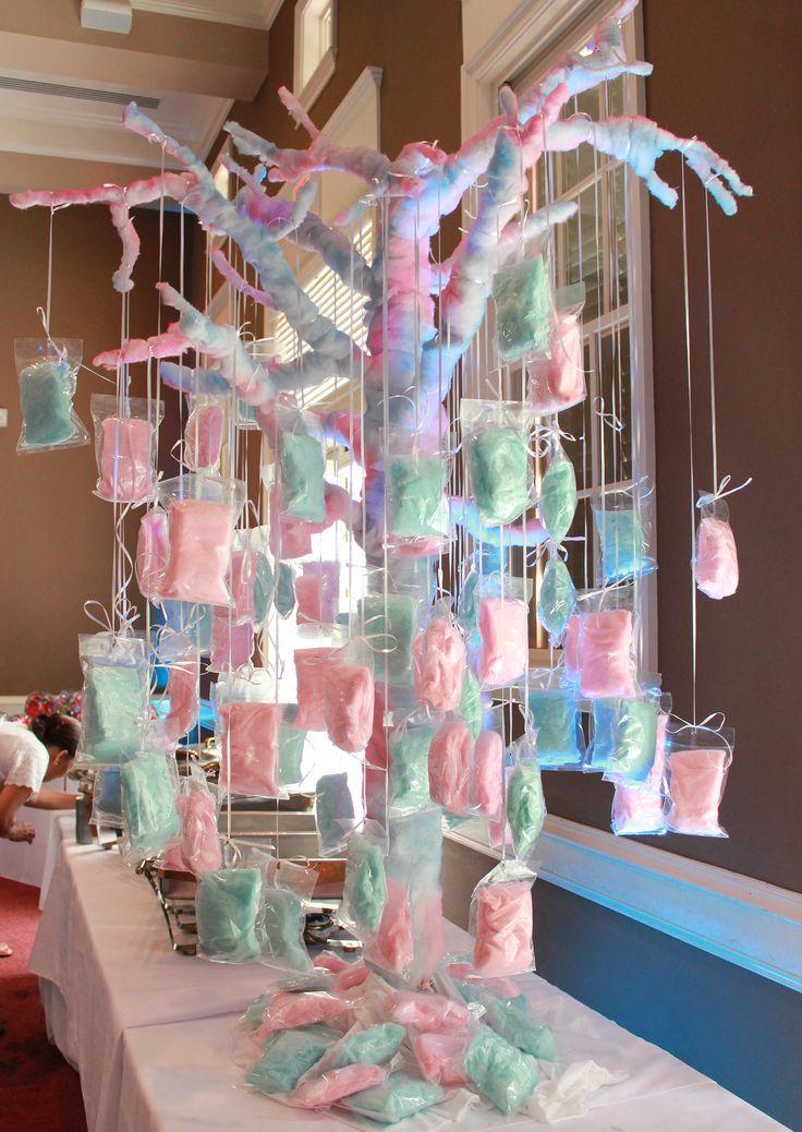 Árvore de algodão doces para comemorações, excelente ideia!  Site: http://keithwatsonevents.wordpress.com/category/sweet-16/