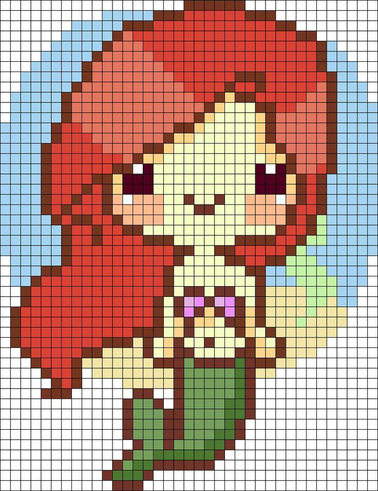 Ariel de hama beads.                                                                                                                                                                                 Más