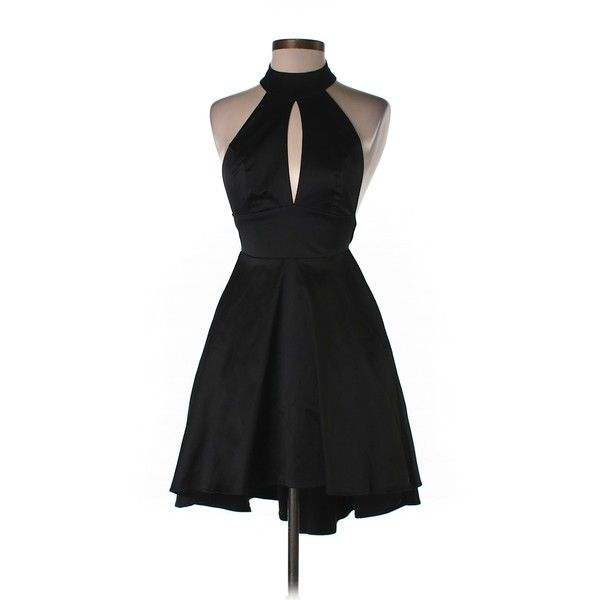 Pre-owned ASOS Cocktail Dress Size 1: Black Junior Dresses (54 BRL) ❤ liked on Polyvore featuring dresses, black, asos, preowned dresses, pre owned dresses, asos dresses and asos cocktail dresses