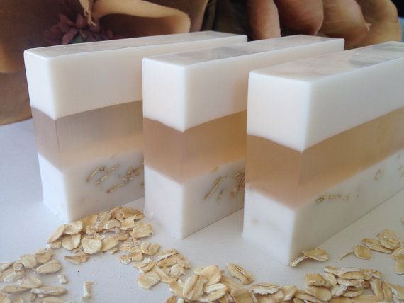 Oatmeal, Milk & Honey - glycerin soap, goats milk, oatmeal, vitamin e                                                                                                                                                                                 More