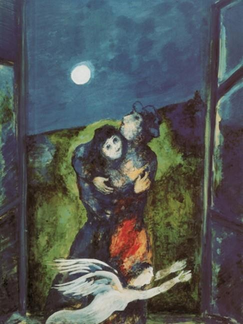Marc Chagall, Lovers in Moonlight.