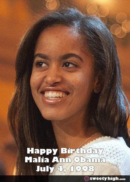 July 4, 2014: Malia Obama's Birthday. #HappyBirthday REALLY LOVE U..MY WORLD WIDE MOON.MY LIFE U]