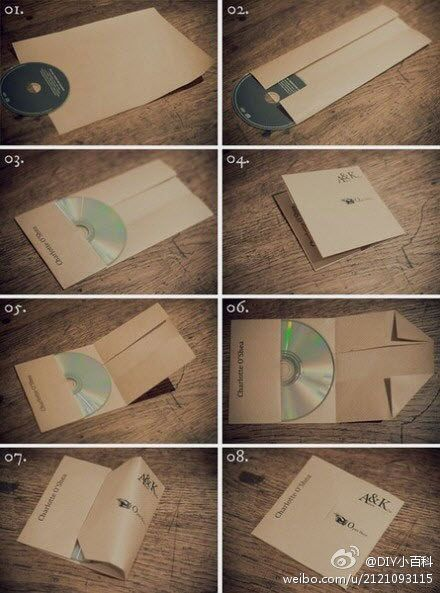 DIY CD Case :) maybe I'll make a mix for my bf (he doesn't own a iPod..or iPhone..he's still in the CD ages) ha