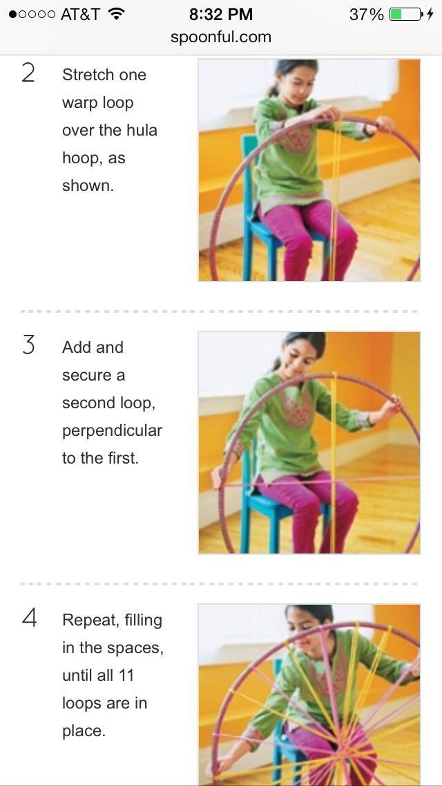 Hula Hoop T-Shirt Rugs Instructions   DIY-hula Hoop~tshirt Rug! With Instructions!!!!