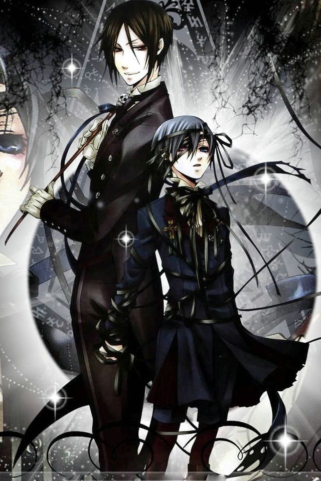 What A Lovely Picture Of Both Ciel Phantomhive And Sebastian Michaelis