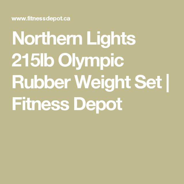 Northern Lights 215lb Olympic Rubber Weight Set | Fitness Depot