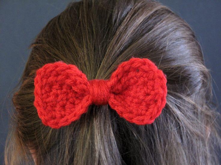 The Enchanted Ladybug: FREE Pattern: Crochet Bow Barrette