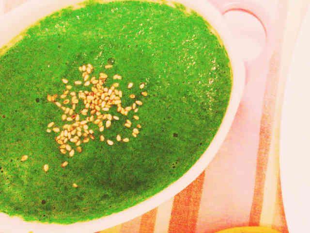 簡単 ほうれん草の豆乳スープの画像