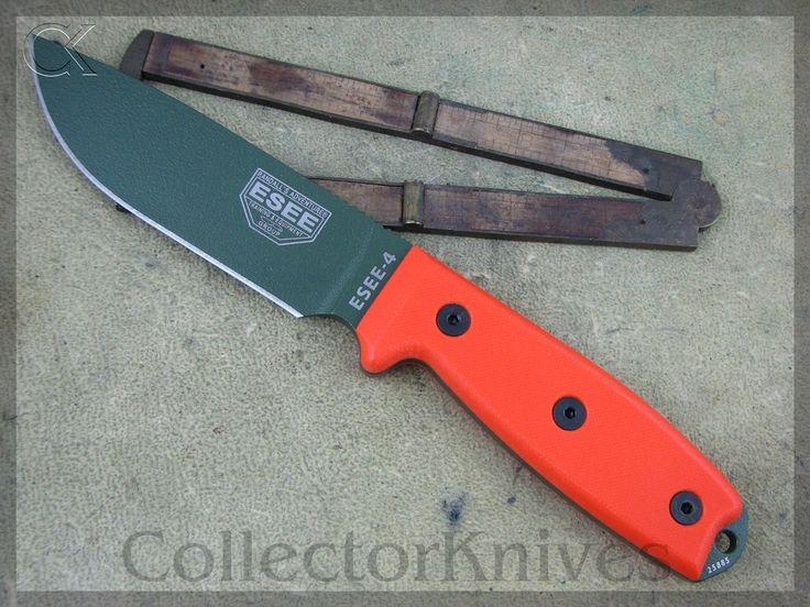 CollectorKnives - ESEE Model 4 Plain RAT OD Blade, Blaze Orange G10 Handles, 1095 steel, $72.95 (http://www.collectorknives.net/esee-model-4-plain-rat-od-blade-blaze-orange-g10-handles-1095-steel/)