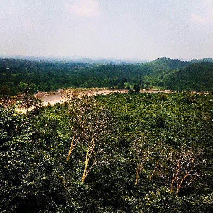 Auranga river behind the palamu fort #incredibleindia