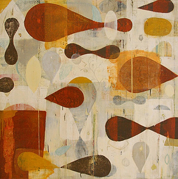 Nicholas Wilton / Satsuma, mixed media on Panel 60 x 60 inches