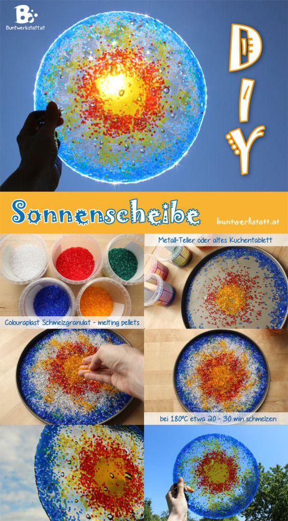 Sonnenscheibe DIY 566x1024 Sonnenscheibe mit Schmelzgranulat