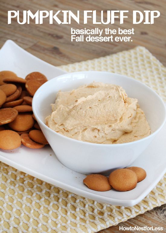 Super easy PUMPKIN FLUFF DIP. Seriously addictive stuff!!
