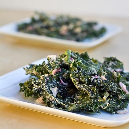"""Sour """"cream"""" and onion Kale chips. Great healthy snack idea. Kale is one of the most nutrient dense foods on this planet. I love incorporating and cooking kale in creative ways to change the flavor profile of this vegetable."""