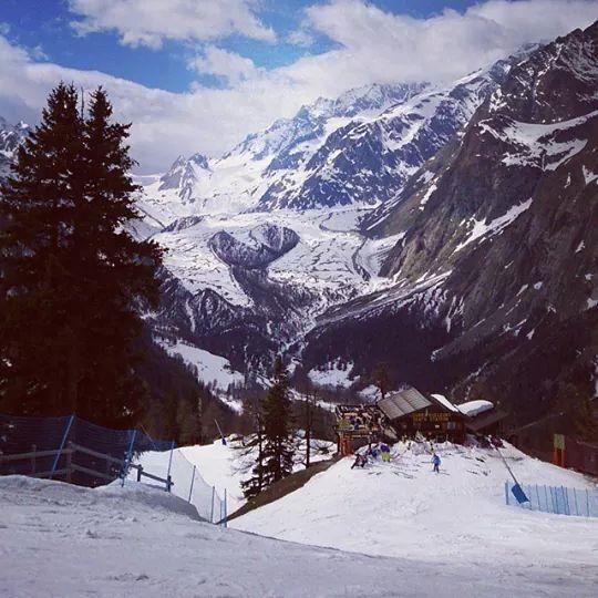 Neve e le piste di Courmayeur