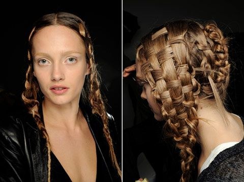 25 beautiful basket weave hair ideas on pinterest basket weave alexander mcqueen hair weaving at its finest backstage at mcqueen 2010 pmusecretfo Gallery