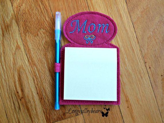 Mom Refrigerator Magnet  Sticky notepad w/pen by longvalleybears
