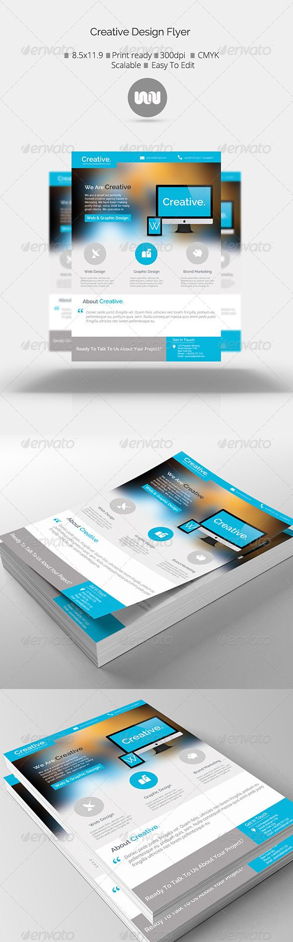 Creative Design Agency Flyer - Corporate Flyers   Download http://graphicriver.net/item/creative-design-agency-flyer/7110563?ref=sinzo