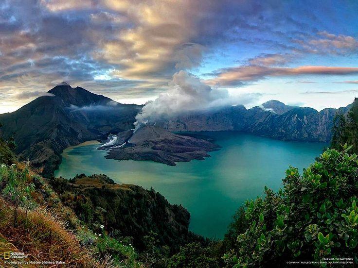 Segara Anak Lake on the Peak of Rinjani Mountain, Lombok, Indonesia- Booked!