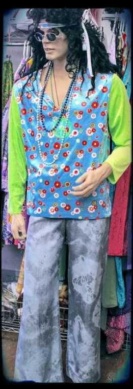 Tie dye flares & flower top