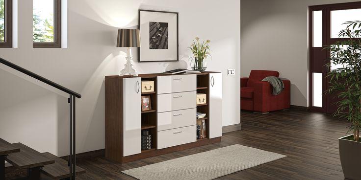 Durch die Kombination unterschiedlicher Dekore kannst du deinen Möbeln eine persönliche Note verleihen. Besonders ansprechend ist zum Beispiel die Kombination aus Buche Schoko und Seidenglanz Weiß. Auch mattes Weiß und Eiche sehen zusammen ganz hervorragend aus.