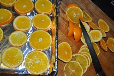 How to dry orange slices in the oven did this last year and they turned out perfect!!! p.s. Your house will smell out of this world amazing!!