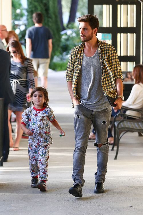 Scott Disick and Mason have a boys night out