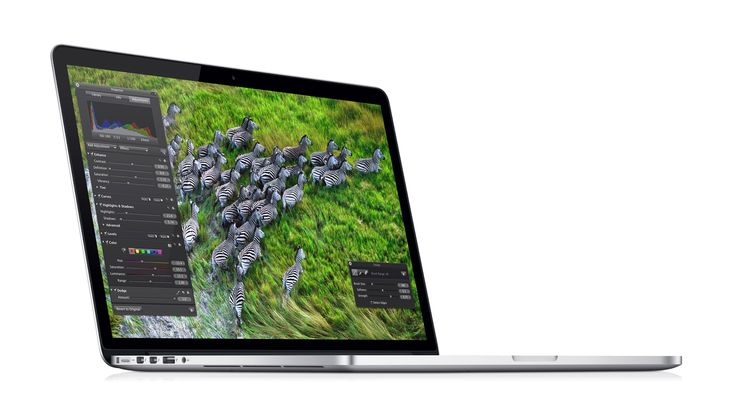 Apple - MacBook Pro // A Retina display with 5.1 million pixels. An all-flash architecture. Quad-core Intel Core i7 processors. In a design that's just 0.71 inch thin and 4.46 pounds. It's not just the most advanced notebook Apple have ever made, it's the most advanced Mac Apple have ever made.