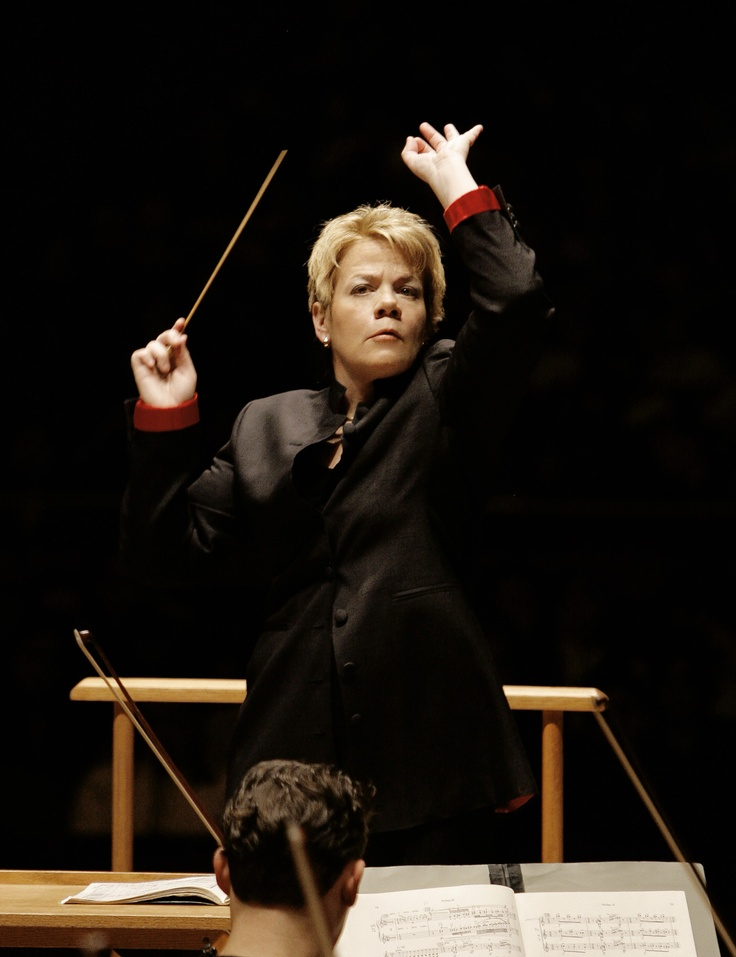 Marin Alsop-One of only a few female conductors and music director of the Baltimore Symphony Orchestra.