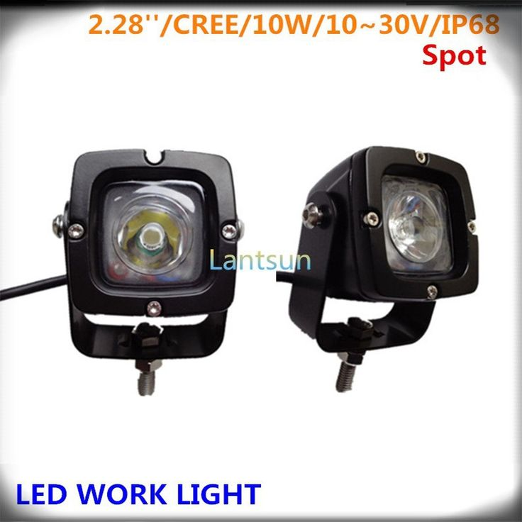 """30.00$  Buy now - http://alilhh.shopchina.info/go.php?t=1679779003 - """"Pair small IP68 Waterproof 6000K aluminum DC12V 24V 2"""""""" 10w auto led offroad light  for jeep 4X4 4WD SUV """" 30.00$ #aliexpress"""