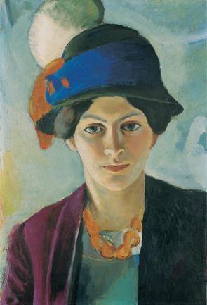 August Macke – Frau des Künstlers mit Hut, 1909 | LWL-Museum für Kunst und Kultur
