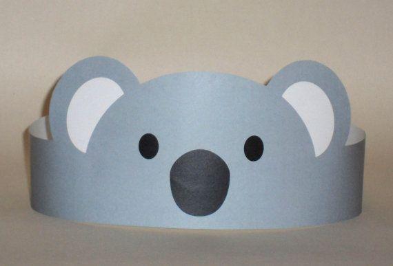 Corona de papel de Koala - imprimible