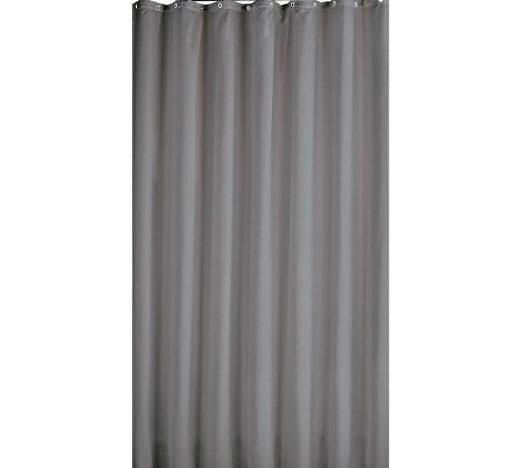 buy colourmatch shower curtain flint grey at argoscouk your online - Grey Bathroom Accessories Uk