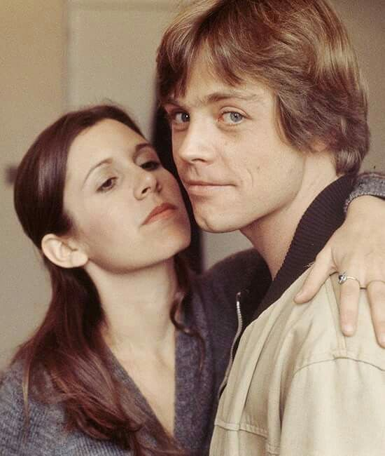 Carrie Fisher and Mark Hammel