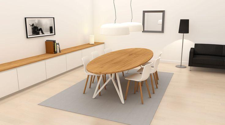 Studio H&K | Rechthoekige, Ovale en Ronde Design Tafels met stalen frames