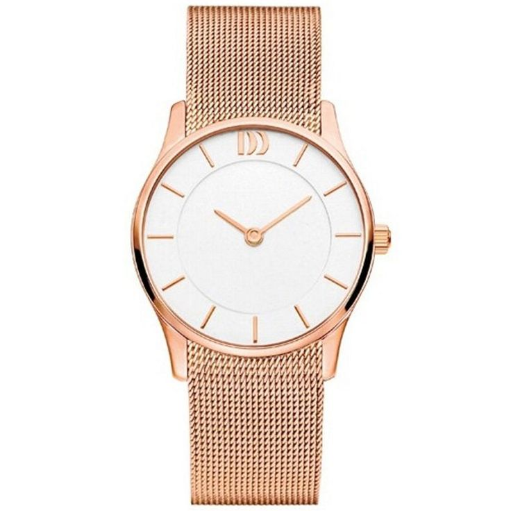 A stainless steel quartz watch with a mineral crystal glass and a stainless steel mesh band.