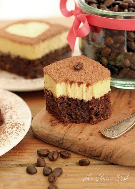 Tiramisu Double Chocolate Brownies (grain free, refined sugar free) | tasty-yummies.com | #tiramisu #brownies #chocolate