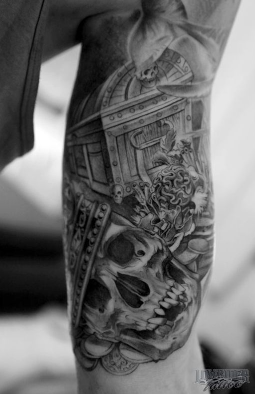 Treasure Chest Tattoo: Skulls And Treasure Tattoo