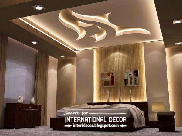 Modern Suspended Ceiling Lights For Bedroom False Lighting Ideas