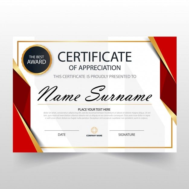 Download Red Horizontal Certificate Template For Free