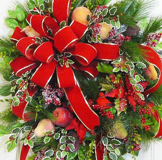 XXL Gorgeous Christmas Door or Wall Wreath with by LadybugWreaths, $189.97