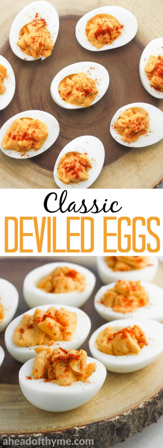 """Classic deviled eggs are a simple and easy to whip up, go-to appetizer for all your party, picnic or """"just because"""" needs! 